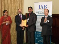 IAB Award for Best Centre in the world and international Excellency in IT awarded in the parliment of U.K